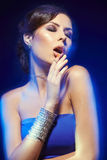 foto för smycken för konstskönhetmode Royaltyfria Bilder