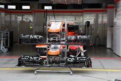 Foto F1: Coche de competición de la fórmula 1 Marussia Imágenes de archivo libres de regalías