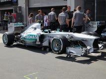 Foto F1: För Mercedes för formel 1 bild bil- materiel Royaltyfria Bilder
