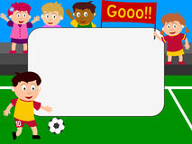 Foto-Feld - Fußball lizenzfreie abbildung