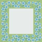Foto Feld mit Blumenmotiven Lizenzfreie Stockfotografie