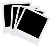 Foto-Felder getrennt auf Weiß Lizenzfreie Stockfotos