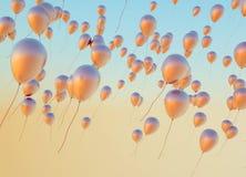 Foto fine dei palloni dorati immagini stock libere da diritti