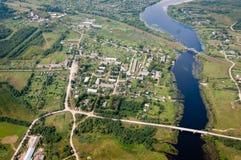 Foto från en höjd av 600 meter Arkivfoton