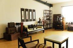 Foto för översikt för garnering för antikt möblemang för privat hem verkliga Royaltyfri Bild