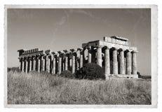Foto greca dell'annata del tempio Fotografia Stock