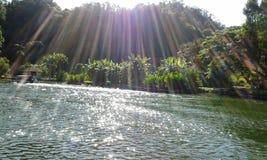 Foto Gunung Lang del lago nature Immagine Stock