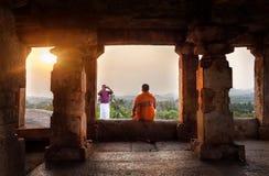 Foto in Hampi-Tempel Lizenzfreie Stockbilder