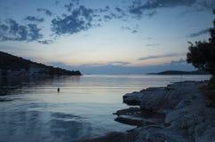 Foto hermosa de la naturaleza y del paisaje del mar adriático en Croacia Fotografía de archivo