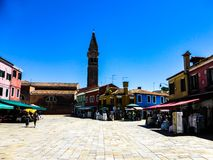 Foto hermosa de Murano - Venecia Italia foto de archivo libre de regalías