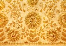Foto het Russische gouden naaien stock afbeelding