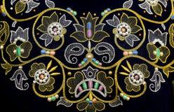 Foto het Russische gouden naaien stock foto