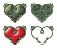 Weinlese-Herzen Stockbilder