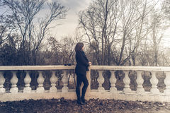Foto im Freien des Mädchens Stockbild