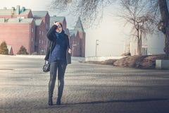 Foto im Freien des Mädchens Lizenzfreie Stockbilder