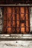 Foto industriale chiusa del primo piano della porta fotografia stock
