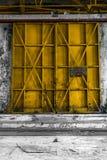 Foto industriale chiusa del primo piano della porta immagini stock