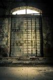 Foto industriale chiusa del primo piano della porta fotografia stock libera da diritti