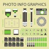 Foto infographics Satz, erster Teil lizenzfreie abbildung