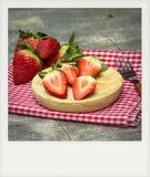 Foto inmediata de fresas Imagen de archivo libre de regalías