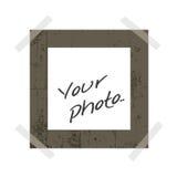 Foto inmediata en blanco Foto de archivo libre de regalías