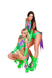 Foto integrale dei danzatori go-go sexy Fotografie Stock Libere da Diritti