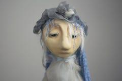 Foto invecchiata bambola d'annata triste Fotografia Stock Libera da Diritti