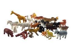 Foto isolada dos brinquedos dos animais imagem de stock