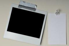 Foto istante e scheda in bianco immagini stock libere da diritti