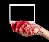 Foto istante sanguinante I fotografie stock libere da diritti
