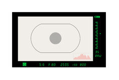 Foto-Kamera das Bild über den Ansichtsucher Lizenzfreie Stockfotografie