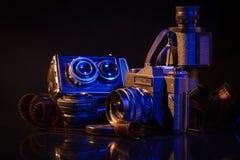 Foto-kamera och film från gammal tid royaltyfri bild