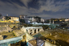 Foto larga do fórum romano, Roma do ângulo Fotos de Stock