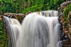 Foto larga-exposured de la cascada del bosque fotografía de archivo libre de regalías