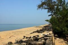 Foto lateral da praia Fotos de Stock