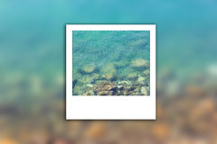 Foto limpa do instante do borrão do mar Imagens de Stock Royalty Free