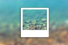 Foto limpia del instante de la falta de definición del mar Imágenes de archivo libres de regalías