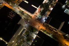 Foto Lincoln Road Miami Beach do zangão Imagem de Stock Royalty Free