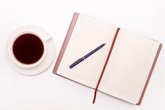 Foto lisa da configuração da mesa de escritório Foto de Stock