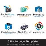Foto Logo Template Design Vector Royaltyfria Bilder