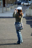 Foto-Mädchen Stockfoto