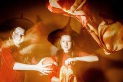 Foto mística de Halloween con la luz mezclada Fotos de archivo libres de regalías