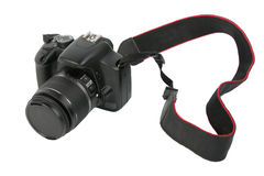 Foto-macchina fotografica nera di DSLR Immagini Stock Libere da Diritti