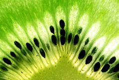 Foto macra de la fruta de kiwi Fotografía de archivo