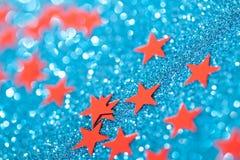Foto macra de las estrellas de la Navidad Imágenes de archivo libres de regalías