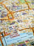Mapa de la ciudad de Londres Fotos de archivo libres de regalías