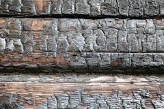 Foto macra de madera carbonizada Fotografía de archivo
