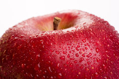Foto macra de una manzana roja Imagen de archivo