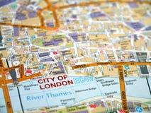 Mapa da cidade de Londres Imagem de Stock
