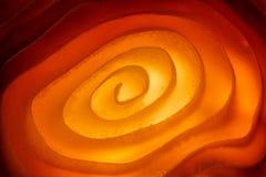 Foto macro della superficie illuminata di spirale Fotografia Stock Libera da Diritti